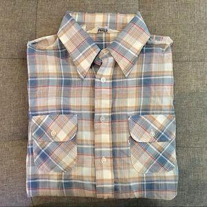 Men's Vintage Levi's Plaid Long Sleeve Button Down